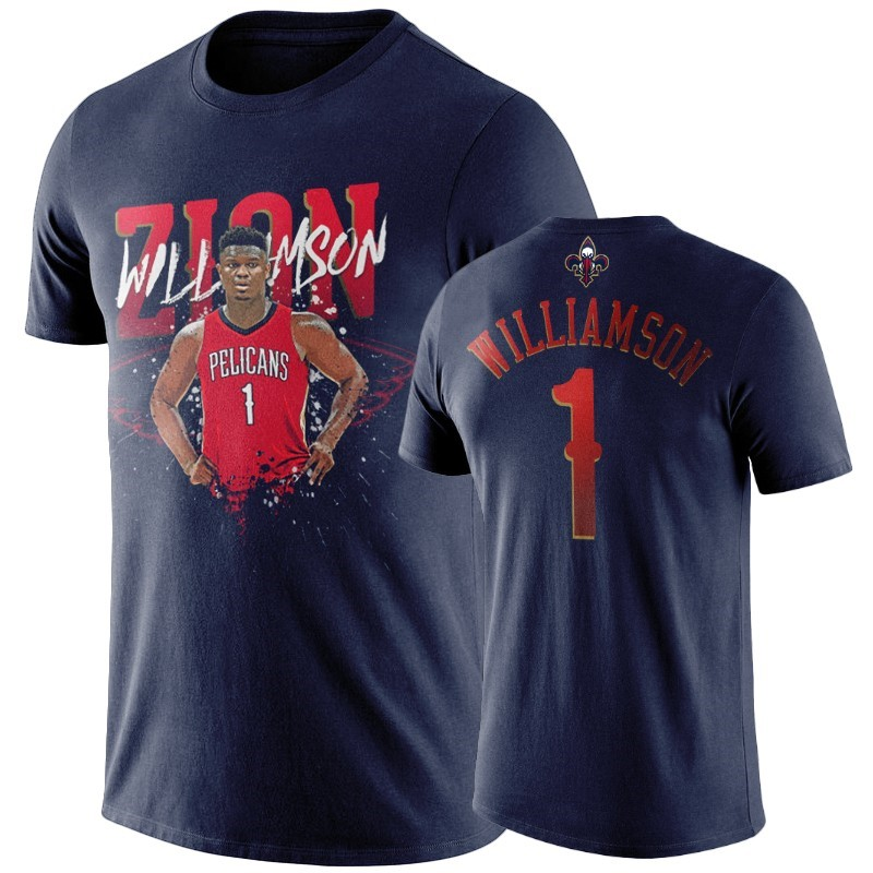 T-Shirt NBA New Orleans Pelicans Zion Williamson Marine Player Graphic