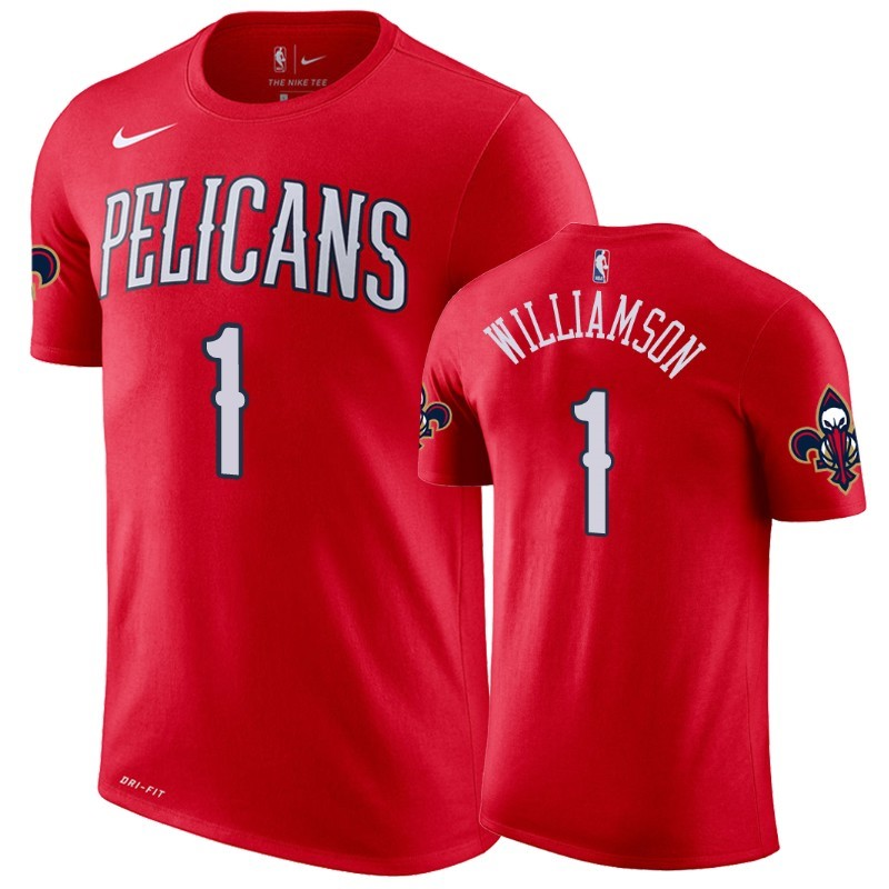 T-Shirt NBA New Orleans Pelicans Zion Williamson Rouge Statement