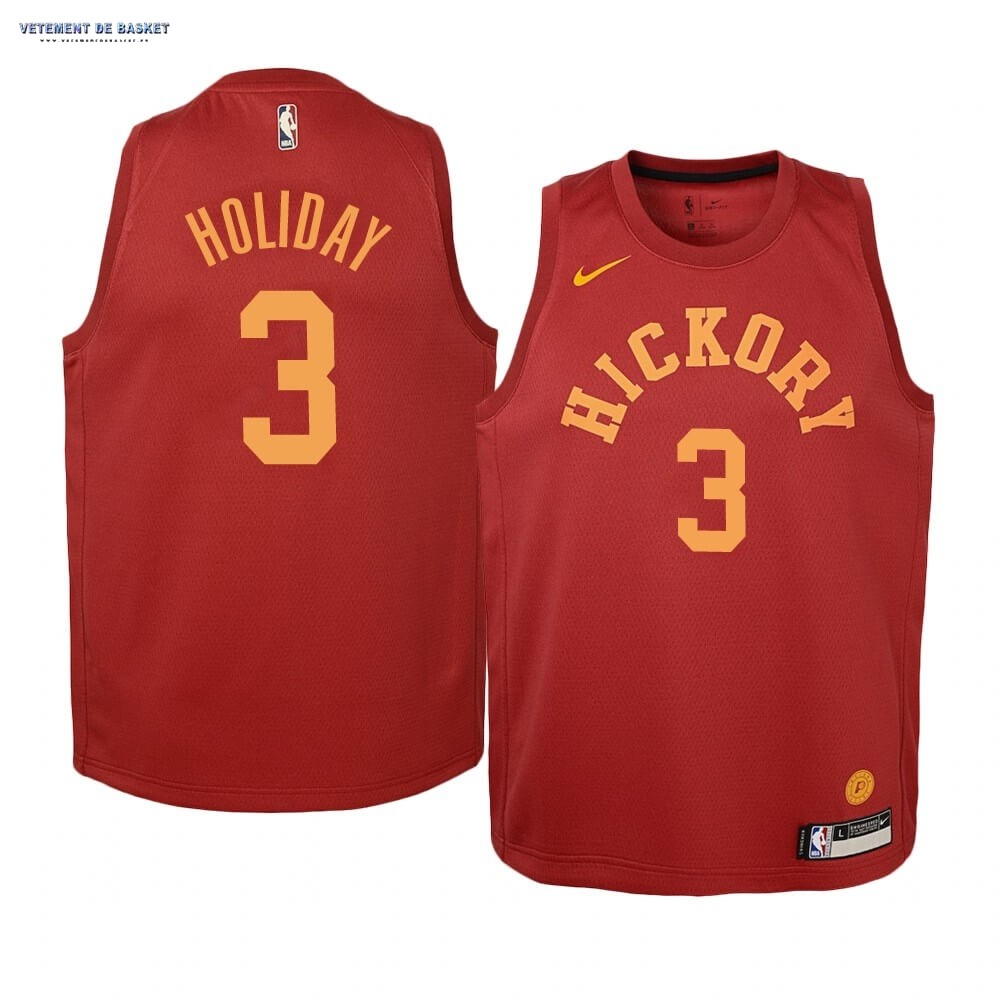 Maillot NBA Enfant Indiana Pacers NO.3 Aaron Holiday Nike Retro Bordeaux