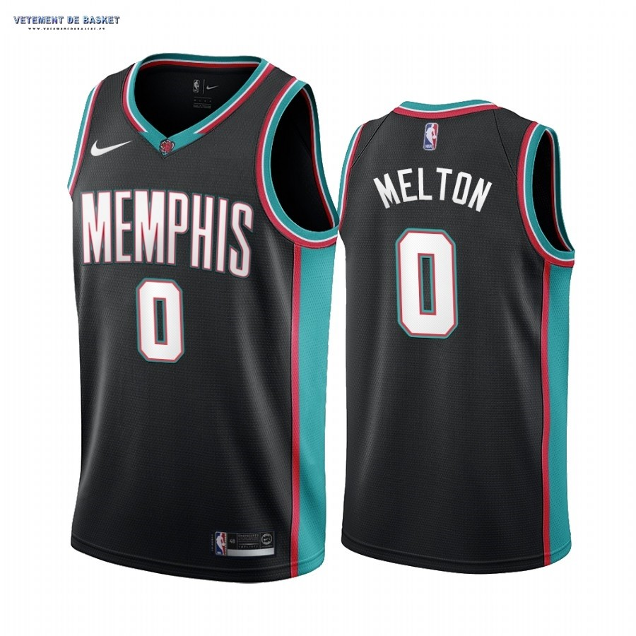 Maillot NBA Menphis Grizzlies NO.0 De'Anthony Melton 20th Season Classics Noir