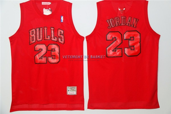 Maillot NBA Chicago Bulls NO.23 Michael Jordan Rouge Engrener