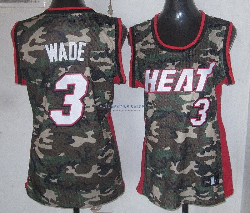 Maillot NBA Femme 2013 Camouflage Fashion NO.3 Wade