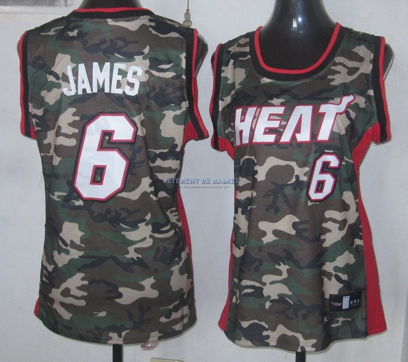 Maillot NBA Femme 2013 Camouflage Fashion NO.6 James