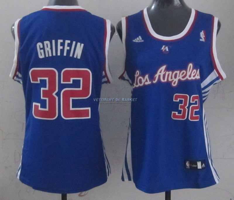 Maillot NBA Femme Los Angeles Clippers NO.32 Blake Griffin Bleu