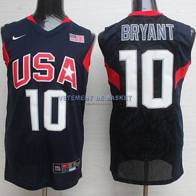 Maillot NBA 2008 USA NO.10 Bryant Noir