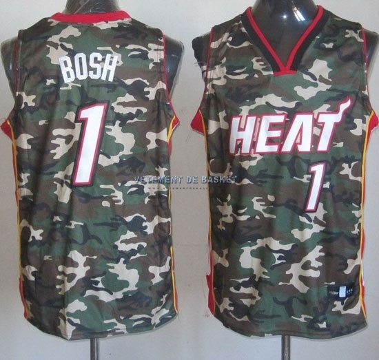 Maillot NBA 2013 Camouflage Fashion NO.1 Bosh