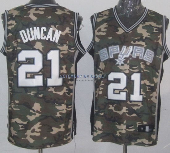 Maillot NBA 2013 Camouflage Fashion NO.21 Duncan