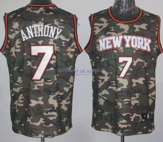 Maillot NBA 2013 Camouflage Fashion NO.7 Anthony