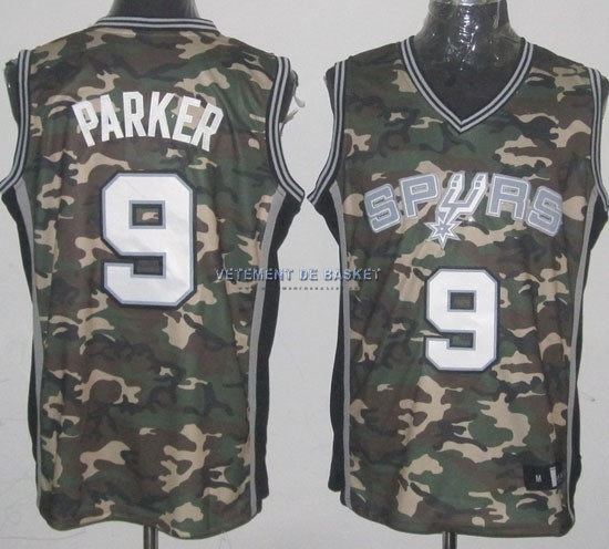 Maillot NBA 2013 Camouflage Fashion NO.9 Parker