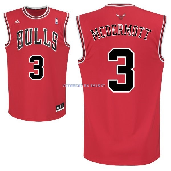 Maillot NBA Chicago Bulls NO.3 Doug McDermott Rouge