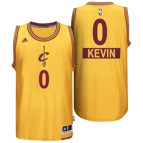 Maillot NBA Cleveland Cavaliers 2014 Noël NO.0 Kevin Jaune
