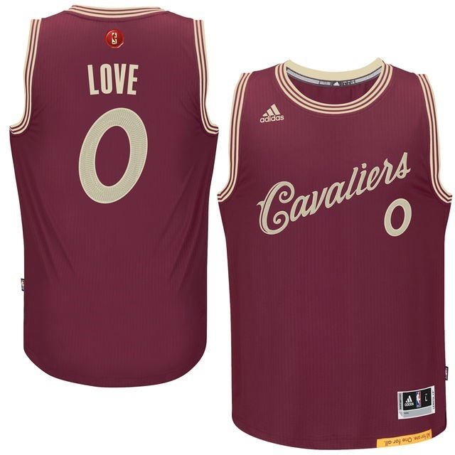 Maillot NBA Cleveland Cavaliers 2015 Noël NO.0 Love Rouge