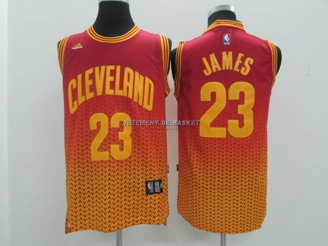 Maillot NBA Cleveland Cavaliers Retentisse Fashion NO.23 James Rouge