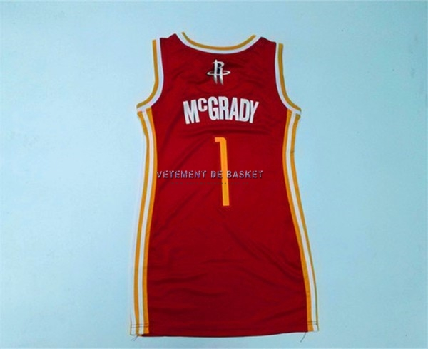 Maillot NBA Femme Houston Rockets NO.1 Tracy McGrady Rouge