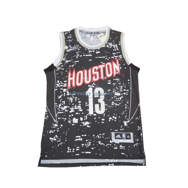 Maillot NBA Houston Rockets Ville Lumières NO.13 James Harden Noir