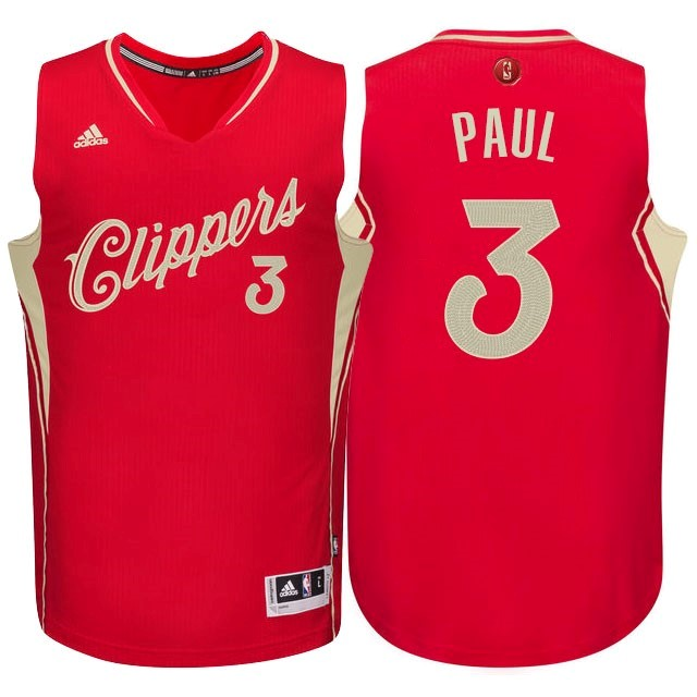 Maillot NBA Los Angeles Clippers 2015 Noël NO.3 Paul Rouge