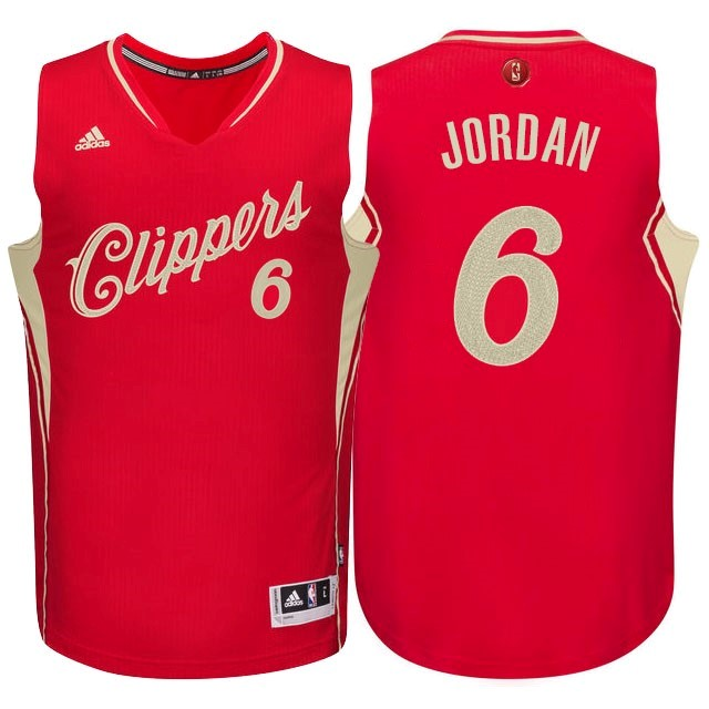 Maillot NBA Los Angeles Clippers 2015 Noël NO.6 Jordan Rouge