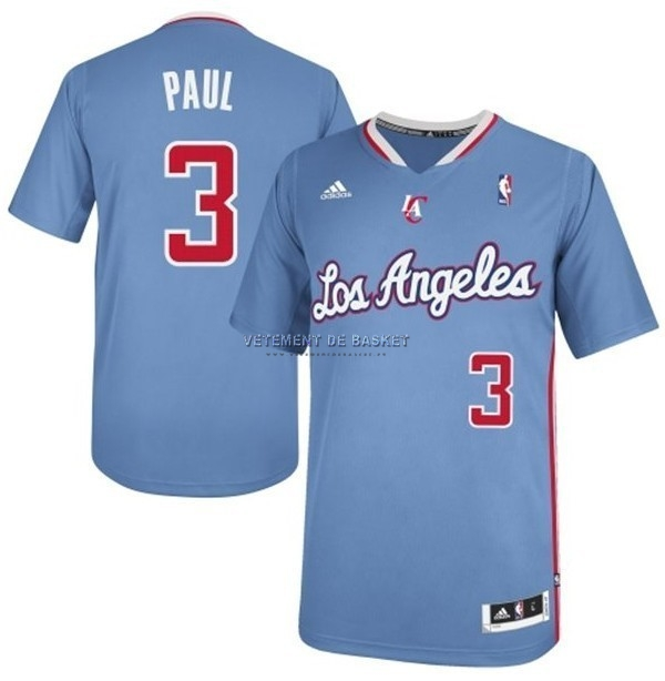Maillot NBA Los Angeles Clippers Manche Courte NO.3 Chris Paul Bleu
