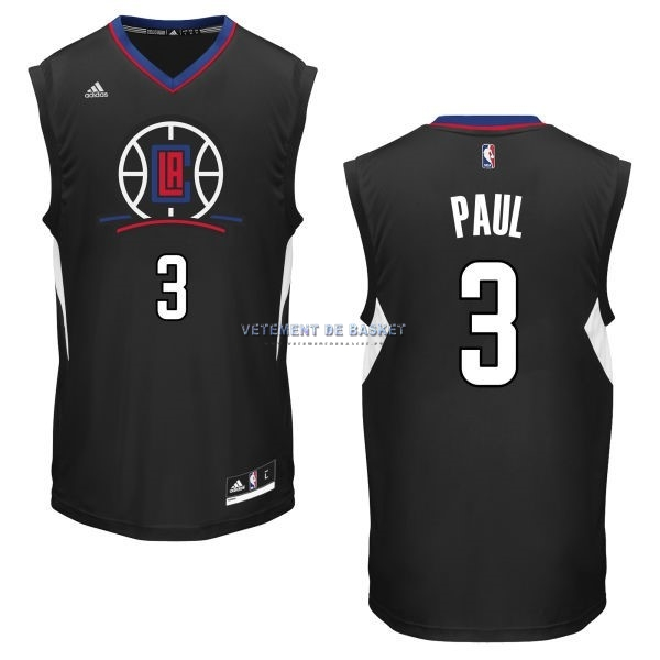 Maillot NBA Los Angeles Clippers NO.3 Chris Paul Noir