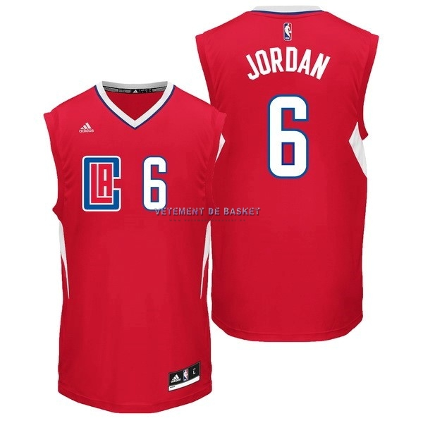 Maillot NBA Los Angeles Clippers NO.6 DeAndre Jordan Rouge