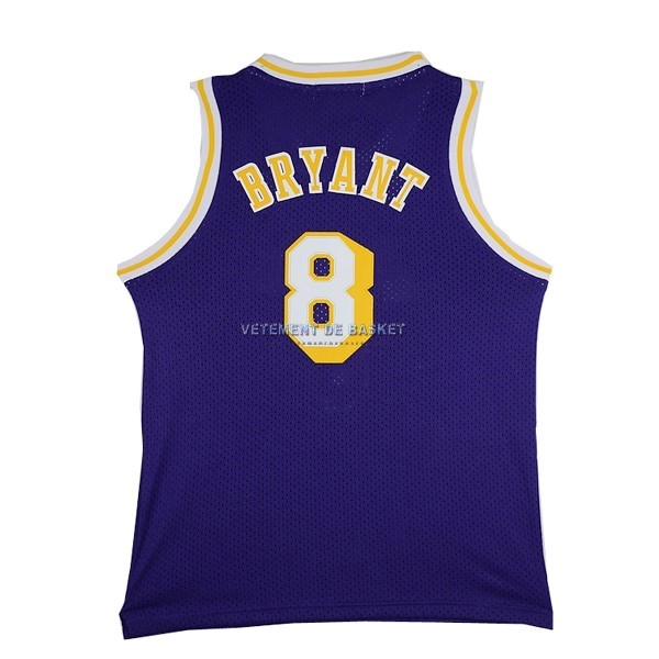 Maillot NBA Los Angeles Lakers NO.8 Kobe Bryant Pourpre