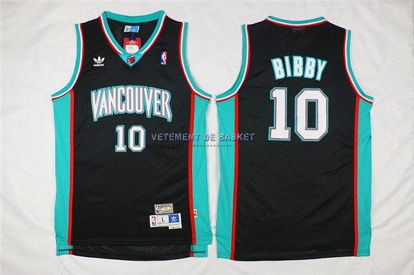 Maillot NBA Memphis Grizzlies NO.10 Mike Bibby Noir