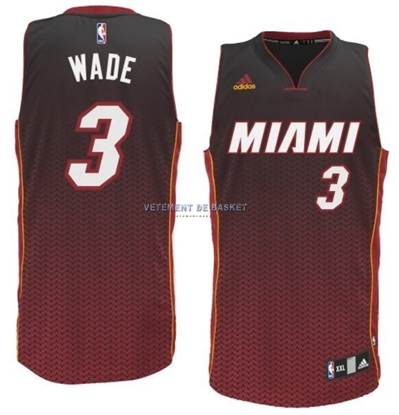 Maillot NBA Miami Heat Retentisse Fashion NO.3 Wade Rouge