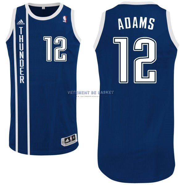 Maillot NBA Oklahoma City Thunder NO.12 Steven Adams Retro Bleu