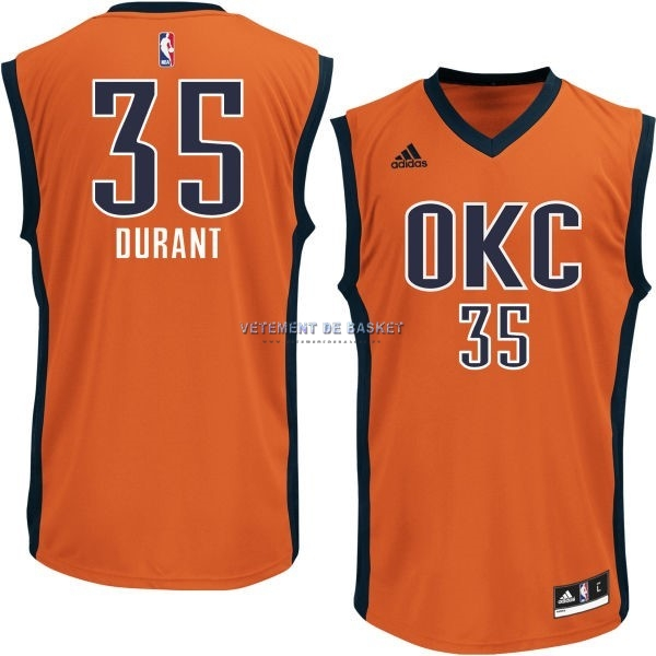 Maillot NBA Oklahoma City Thunder NO.35 Kevin Durant Orange