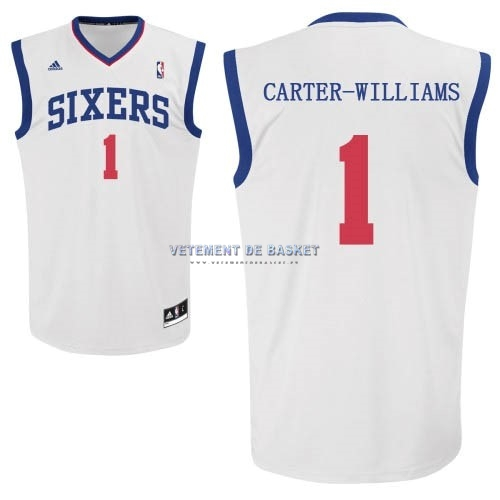 Maillot NBA Philadelphia Sixers NO.1 Michael Carter Williams Blanc