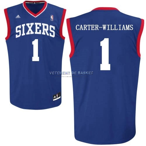 Maillot NBA Philadelphia Sixers NO.1 Michael Carter Williams Bleu