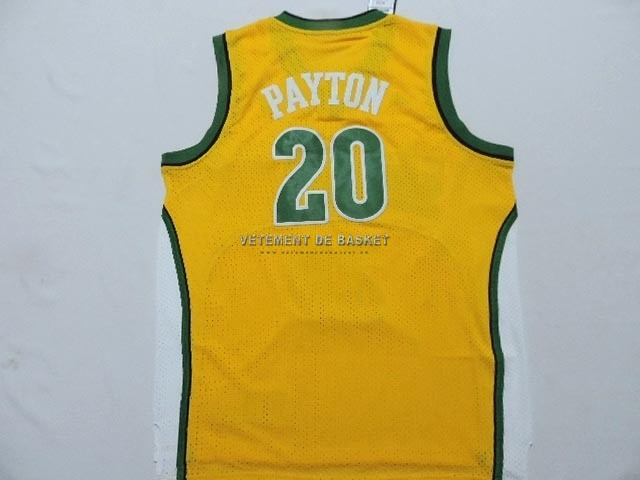 Maillot NBA Seattle Supersonics NO.20 Gary Payton Jaune