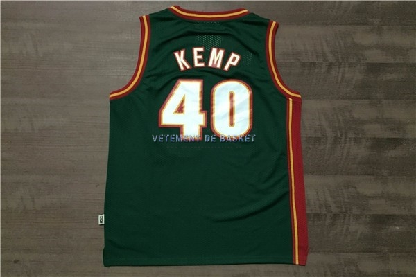 Maillot NBA Seattle Supersonics NO.40 Shawn Kemp Retro Vert