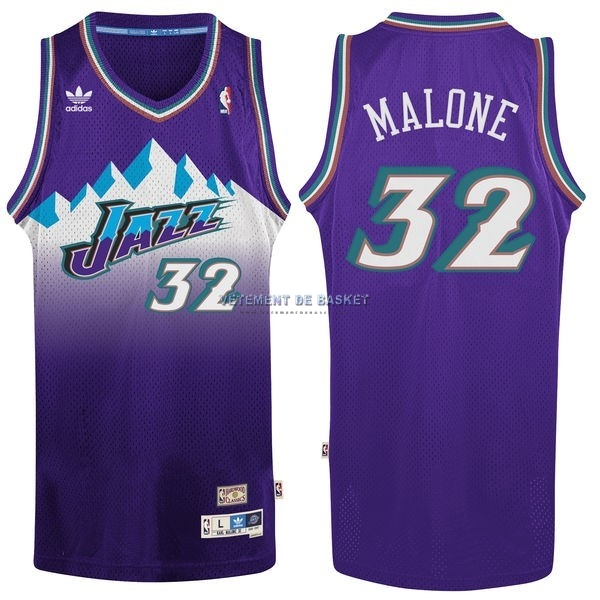 Maillot NBA Utah Jazz NO.32 Karl Malone Pourpre