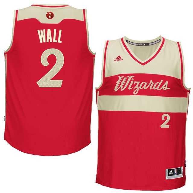Maillot NBA Washington Wizards 2015 Noël NO.2 Wall Rouge