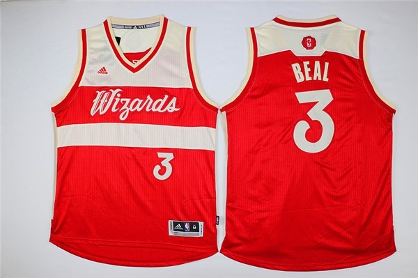 Maillot NBA Washington Wizards 2015 Noël NO.3 Beal Rouge