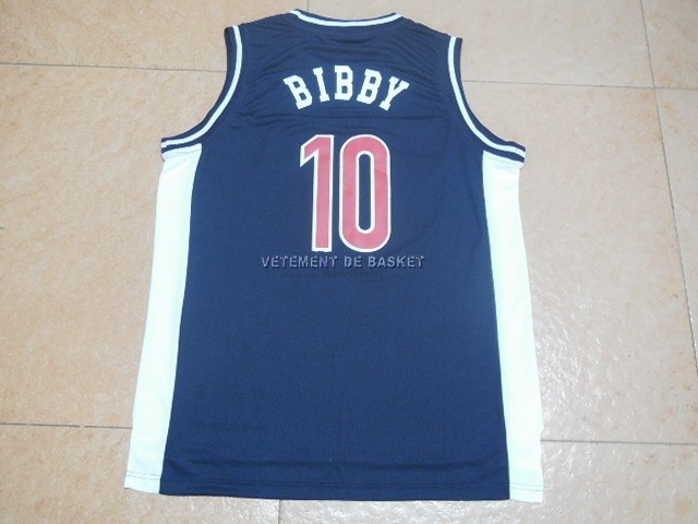 Maillot NCAA Arizona NO.10 Bibby Bleu