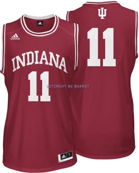 Maillot NCAA Indiana Hoosiers NO.11 Isiah Thomas Rouge