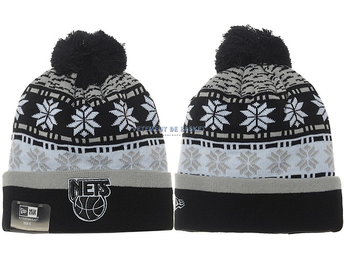 Tricoter un Bonnet 2017 Brooklyn Nets Gris NO.03