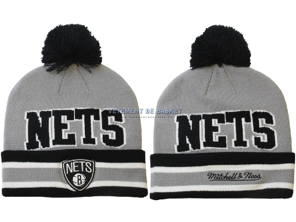 Tricoter un Bonnet 2017 Brooklyn Nets Gris NO.04