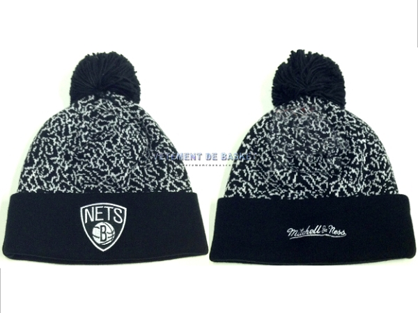 Tricoter un Bonnet 2017 Brooklyn Nets Gris NO.05