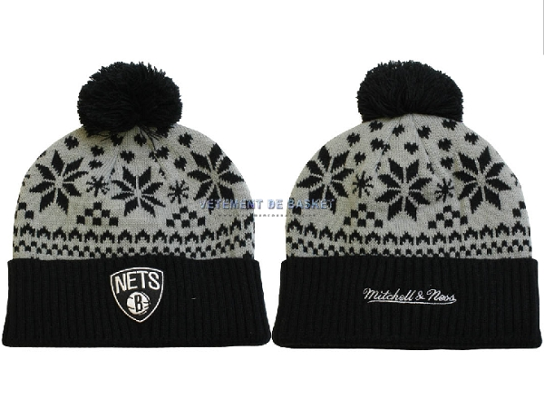 Tricoter un Bonnet 2017 Brooklyn Nets Gris NO.07