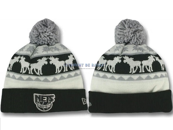 Tricoter un Bonnet 2017 Brooklyn Nets Gris NO.08